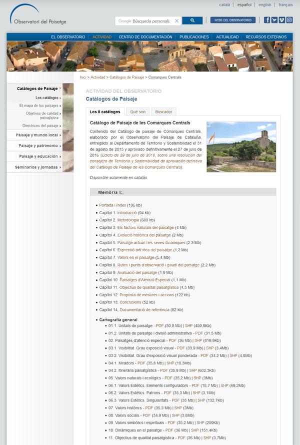 Bases cartográficas de los catálogos