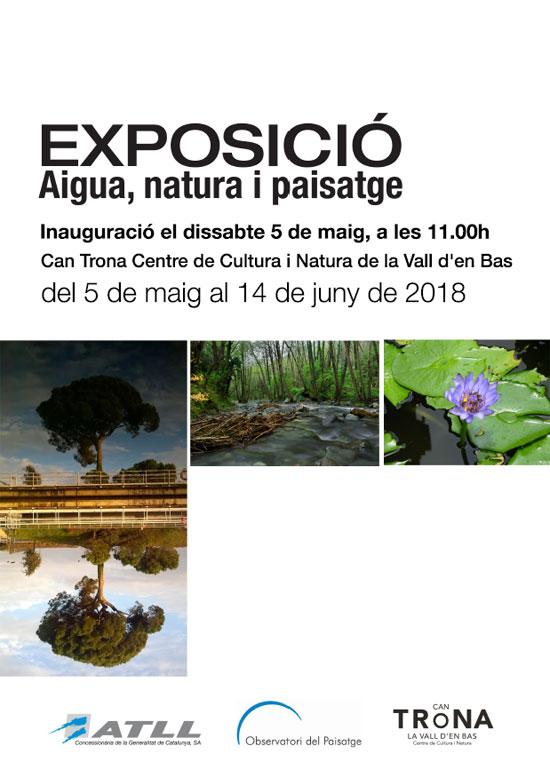 Cartell Exposició Aigua, natura i paisatge